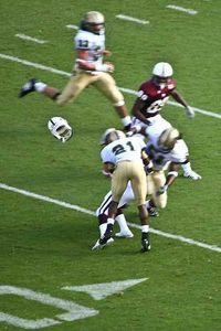 Football-helmet-knocked-off-head