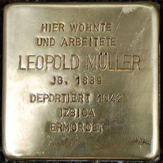 Leopold-stolperstein