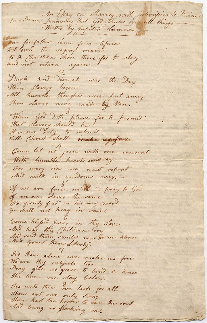 Jupiter-hammon-manuscript