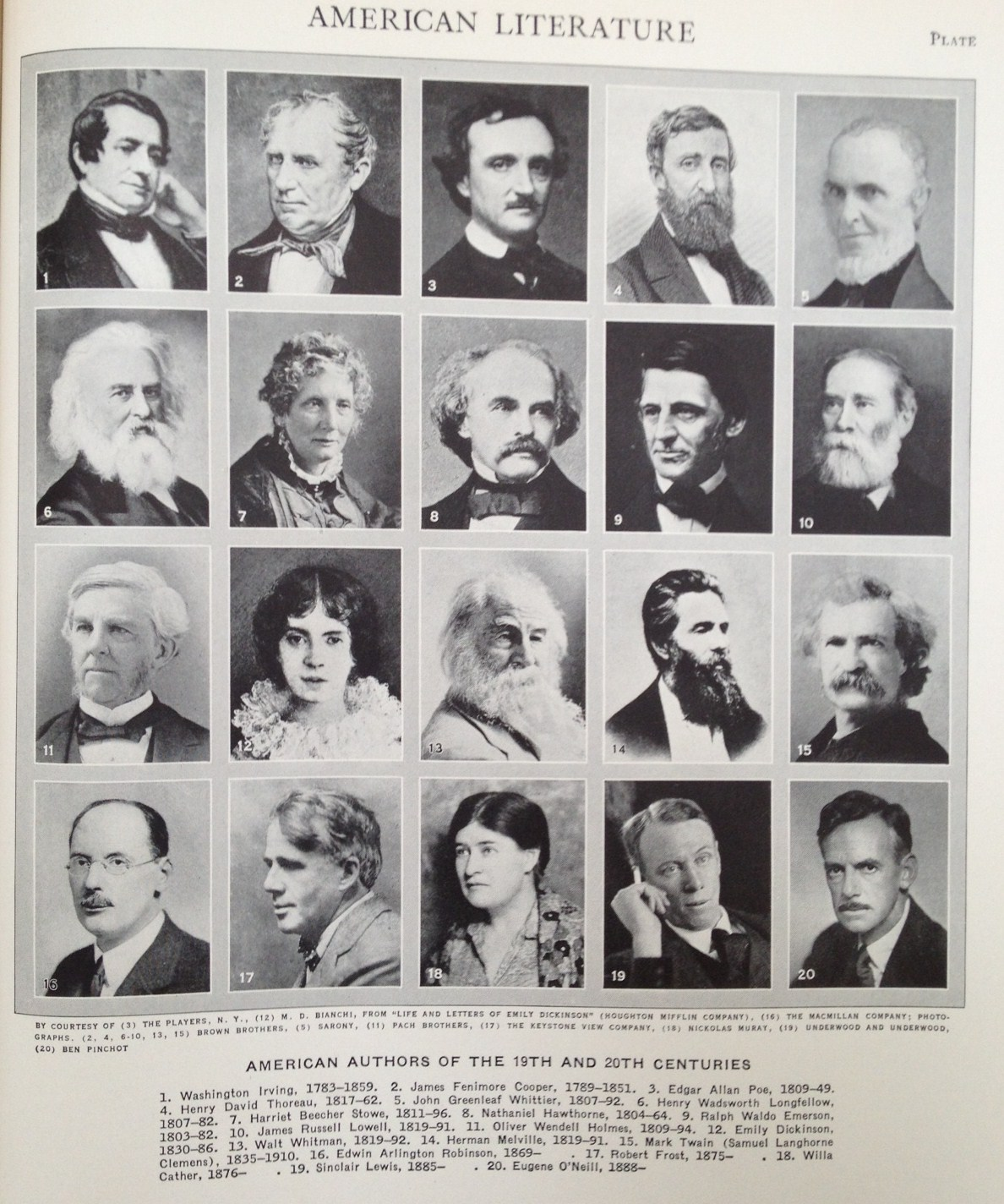 american literature authors and their works