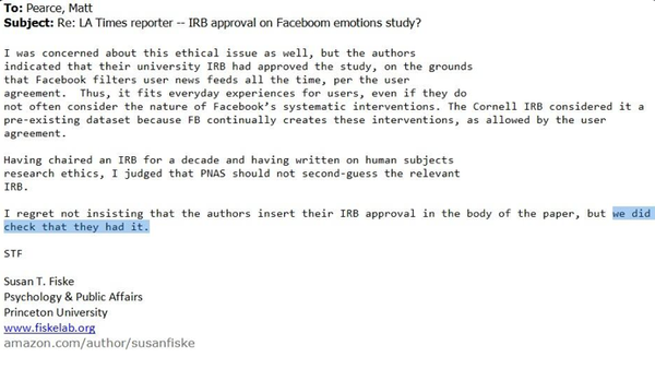 How an IRB Could Have Legitimately Approved the Facebook Experiment—and Why that May Be a Good Thing