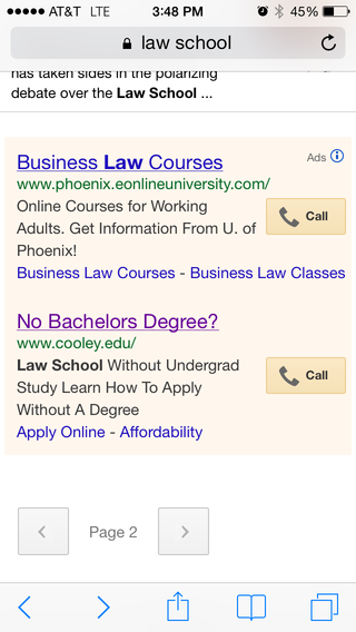 Cooley google ad