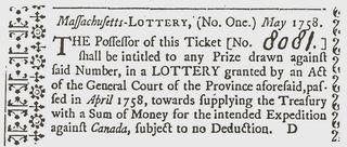 Massachusetts Lottery Ticket 1758
