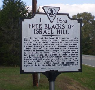 Free blacks israel hill