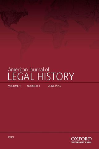 American Journal of Legal History, Oxford University Press
