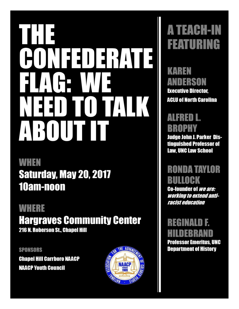 Naacp confed teach in flyer  may 2017