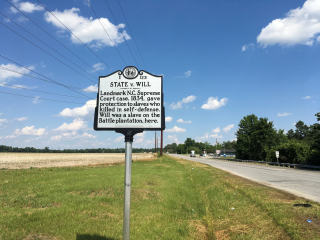 State v Will highway marker