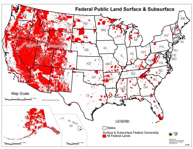 land ownership map kansas The Faculty Lounge The Constitution And Federal Landownership land ownership map kansas