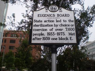 North Carolina Eugenics Roadside Marker, Raleigh