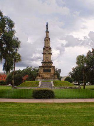 Forsythe Park Confederate Monument Savannah Georgia smaller